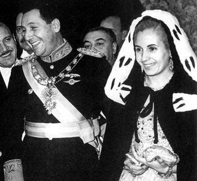 Juan and Evita Peron ...