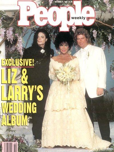 Elizabeth Taylor and Larry Fortensky ...