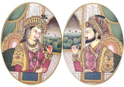 Prince Khurram and Mumtaz Mahal Begum ...