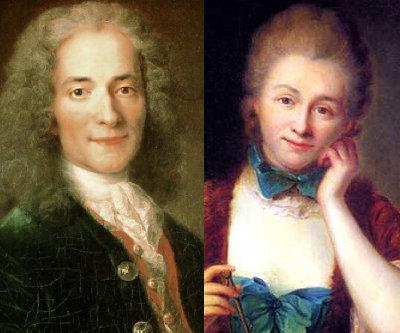 Voltaire and Emilie Du Chatelet ...