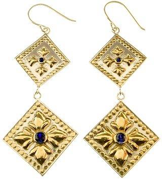 Double Drop Diamond Earrings by Anna Beck ...