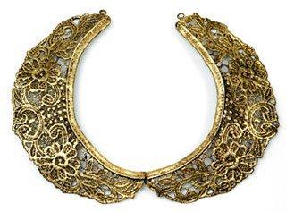 Aurélie Bidermann - Gold Lace Choker ...