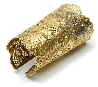 Aurélie Bidermann - Gold Lace Cuff ...