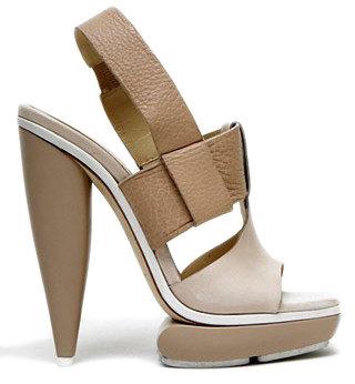 Balenciaga - Leather Platform T-strap Sandal