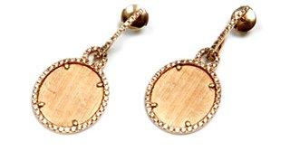Eternamé - Yellow Gold and Brown Diamond Lunaria Earrings ...