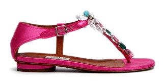 Lanvin - Crystal-embellishment Thong ...