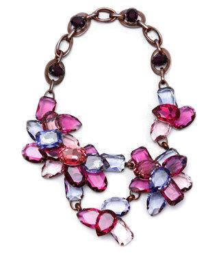 Lanvin - Multicolored Stone Necklace ...