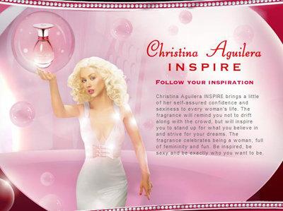 Christina Aguilera for Her Perfume Ad