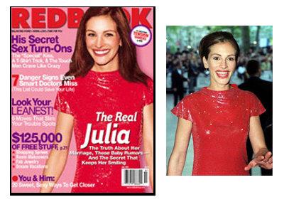 Julia Roberts for Redbook Magazine