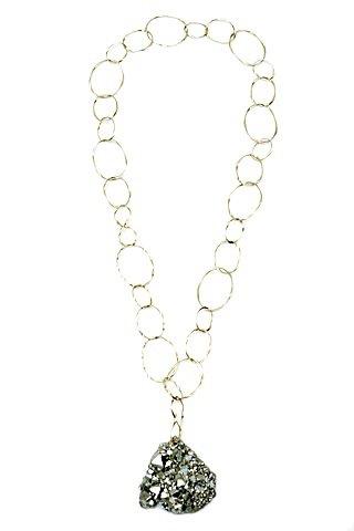 Aurélie Bidermann - Chain-link Necklace with Crystal Cluster ...