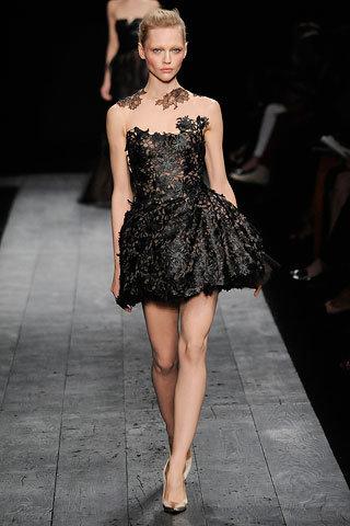 Black Lace Strapless Mini Dress