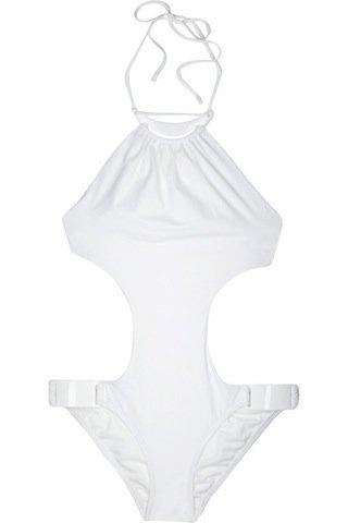 Michael Kors Cutout Necklace Swimsuit ...