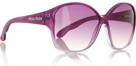 Miu Miu Square Acetate Sunglasses...