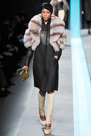 Fendi Fur Overcoat