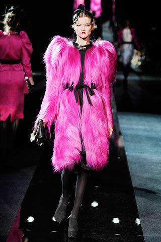 Dolce & Gabbana Extra Pink Fur Coat