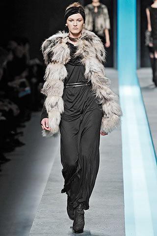 Fendi Long Hair Medium Length Fur Coat