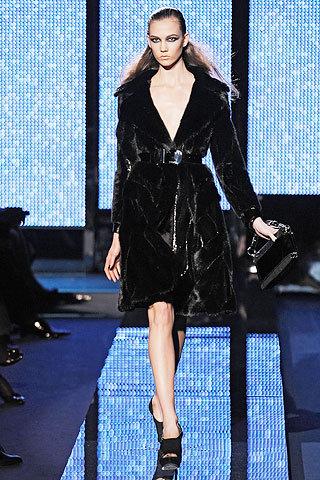 Versace Medium Length Fur Coat