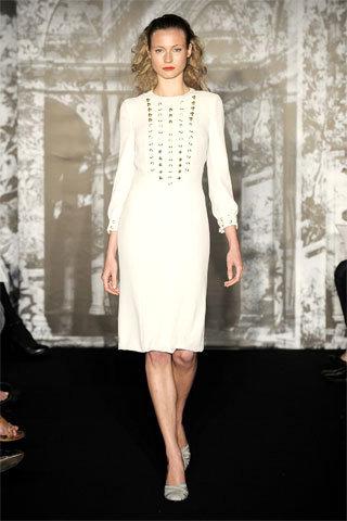 """White Quicky"" Carolina Herrera Wedding Dress"