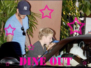 Beckham Boys Dinner out