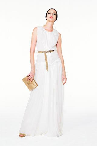 Plain White Yves Saint Lau Wedding Dress