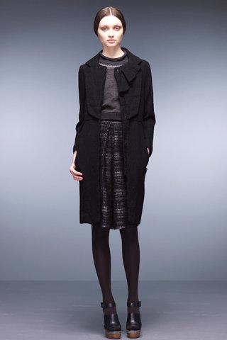 Long Black Overcoat from Hanii Y