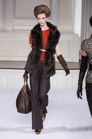 Oscar De La Renta Double Face Sable Fur Vest