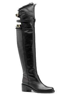 Devandra Mid Heel over the Knee Boots