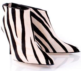 Jimmy Choo Grazie Pony Zebra Print Angle Boots