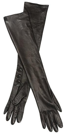Alexander McQueen Black Long Gloves