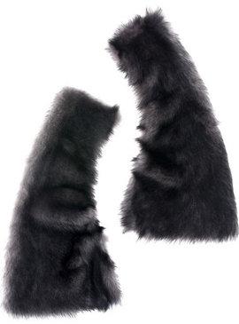 Donna Karan Reversible Shearling Gauntlets