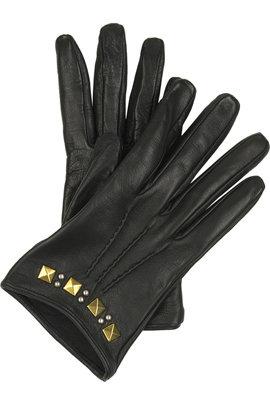 Miu Miu Cropped Leather Gloves