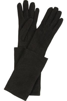 Yves Saint Laurent Elbow-length Leather Gloves
