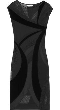 Emilio Pucci Velvet and Tulle Paneled Dress