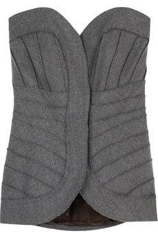 Herve Leger Strapless Wool Bustier