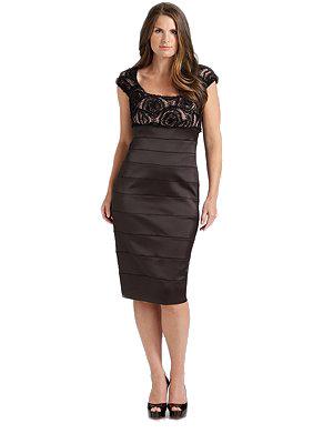 Lace Top Satin Dress