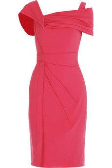 Zac Posen Asymmetric Silk Crepe Dress