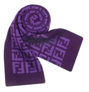 Fendi Purple Logo Scarf