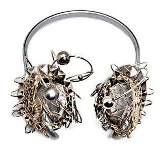 Karl Lagerfeld. Silver Customized Earphones
