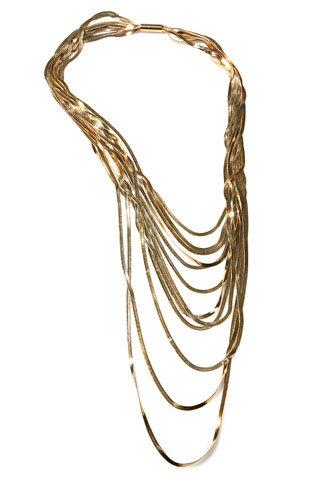 Martin Grant. Plated Gold Katrina Necklace