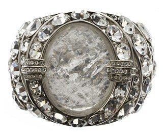 Roberto Cavalli. Silver and Crystal Cuff