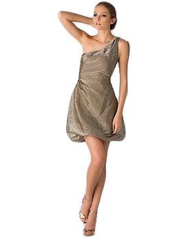 BOSS Black One Shoulder Metallic Taffeta Dress