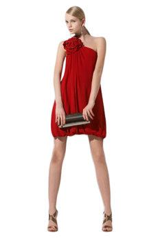 BCBG One-shoulder Embellished Dress