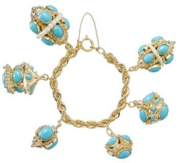 Marc Jacobs Turquoise Bauble Bracelet