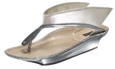Marc Jacobs #MJ14318 – Silver Talaria Thong Sandal