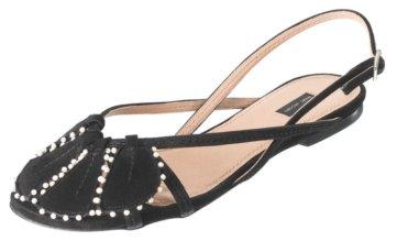 Marc Jacobs #MJ14431 – Black and Pearl Sling-back Sandal