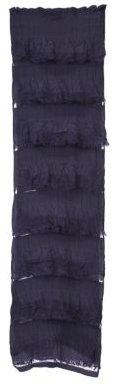Ruffle Stripe Silk Scarf