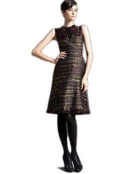 Ruby-Embellished Dress