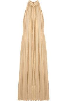 Chloe Draped Silk Halterneck Gown