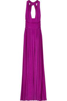 Issa Silk Jersey Plunge Front Gown