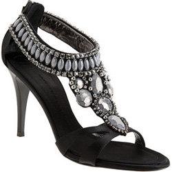 Giuseppe Zanotti Crystal Cluster T-Strap Sandal